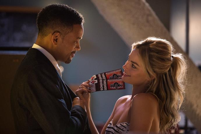 **2015:** Margot teamed up with Will Smith in *Focus*. She was mesmerising as seductive amateur con artist Jess.