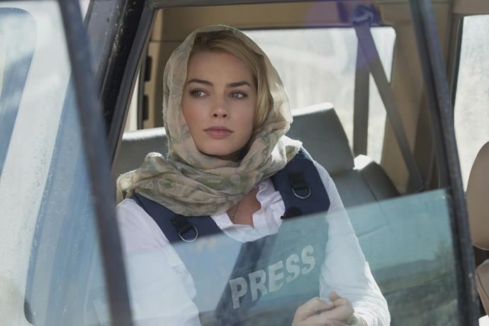 **2016:** The actress played a journo in war-torn Afghanistan for *Whiskey Tango Foxtrot*, alongside Tiny Fey and fellow Aussie soap star Stephen Peacocke.