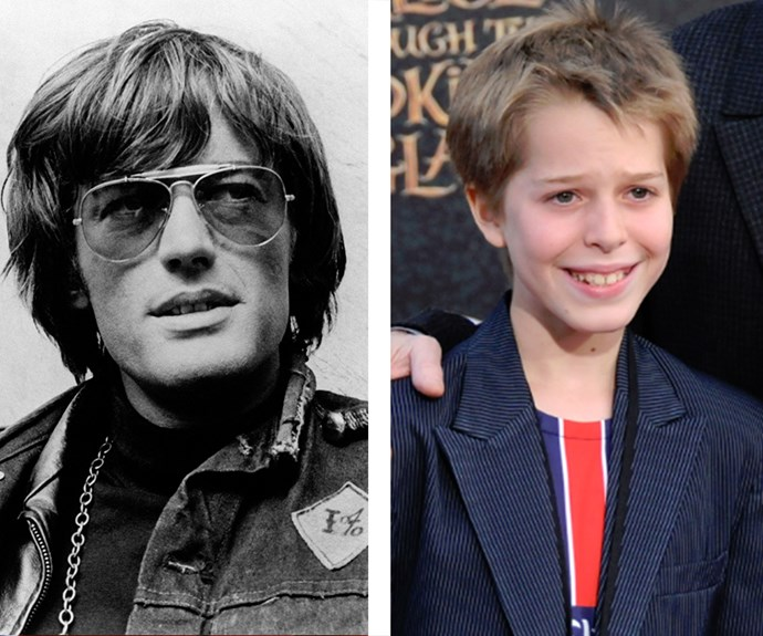 Born in 2005, little Oliver Elfman seems to have his grandpa's impish look down pat! Will he get the family acting chops, too? (Mum is Bridget Fonda.)