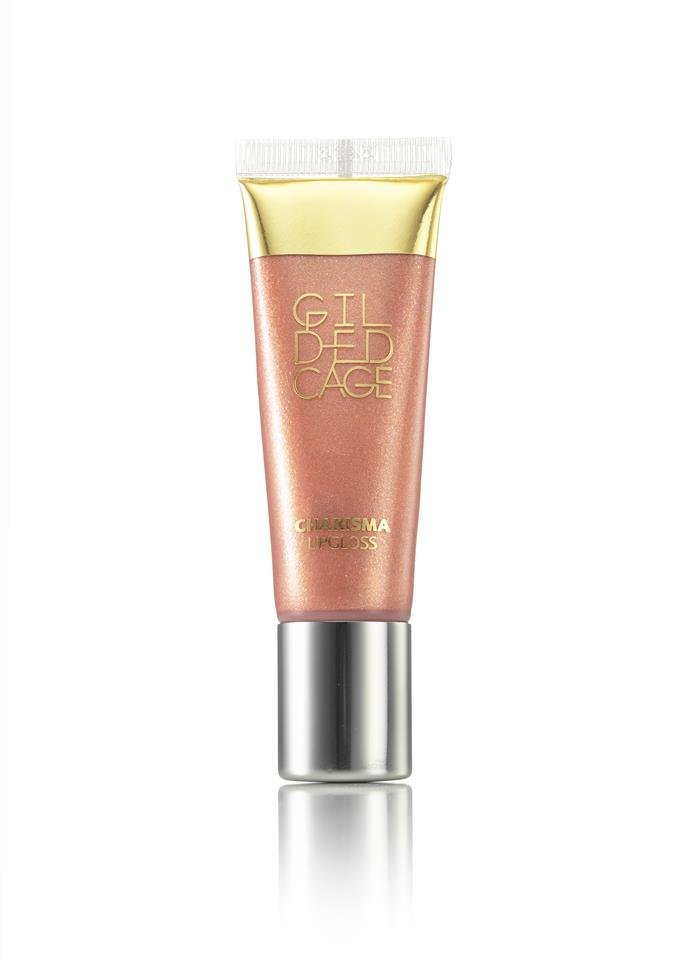 """[Gilded Cage Charisma Lip Gloss - No. 83 in Natural Shimmer, $21, Gilded Cage.](https://gildedcage.com/collections/charisma-lipgloss/products/charisma-lipgloss-no-83-natural-shimmer target=""""_blank"""" rel=""""nofollow"""")"""
