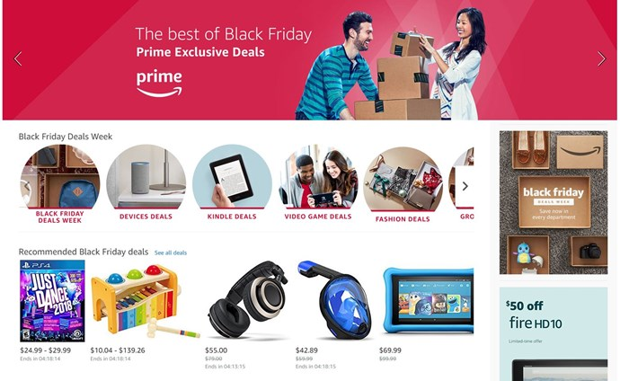 The US Amazon website