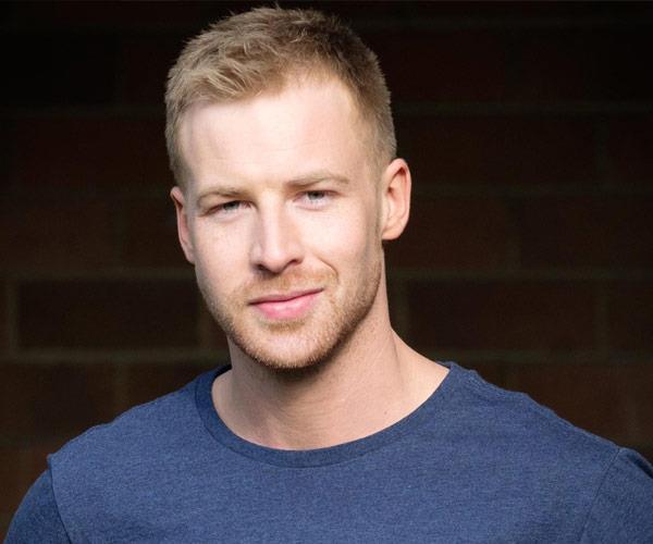 Angus McLaren, 29, as Nathan Rafter.