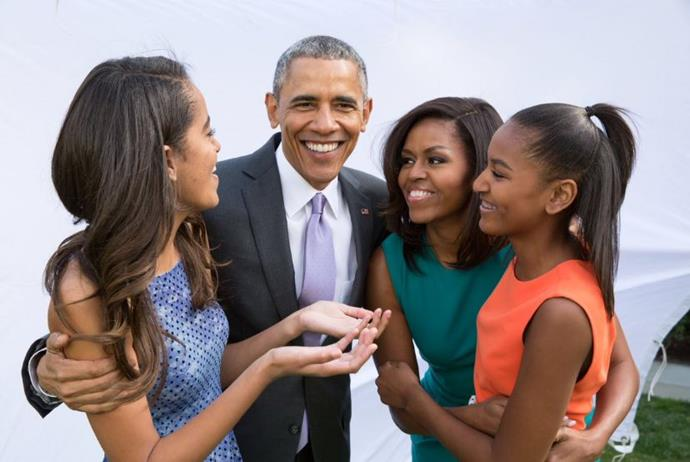 """Barack Obama showed he is thankful for his family, """"From the Obama family to yours, we wish you a Happy Thanksgiving full of joy and gratitude."""""""
