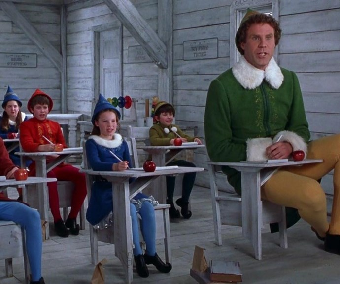 **Elf (2003):** Elf has the most gifs of any Christmas movie EVER thanks to the over-the-top-joyous portrayal of Buddy the elf by **Will Ferrell.** Buddy is the embodiment of everything that is wonderful about Christmas and we can't help but feel giddy as we watch the human-elf navigate the real world with hilarious results.