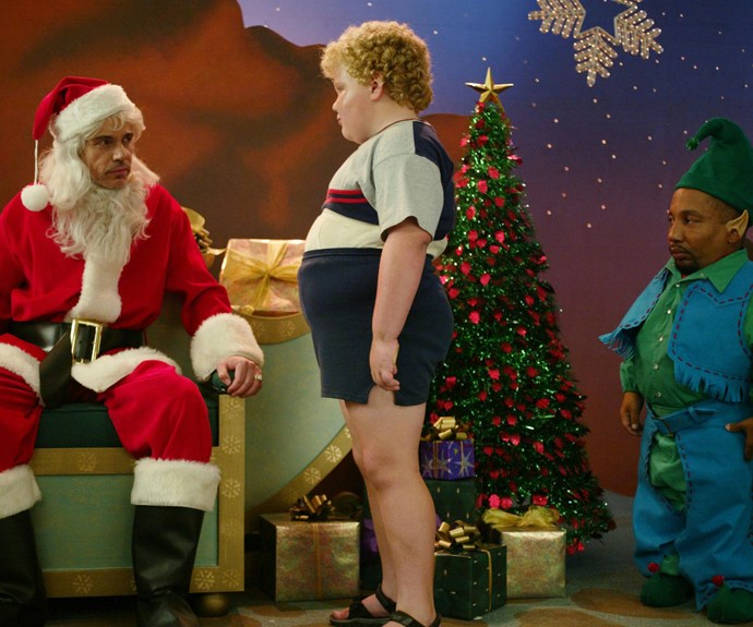 **Bad Santa (2003):** Santa's list is all about naughty and nice, so we had to include at least one misbehaved Christmas movie on ours. Don't feel guilty giggling at this dark comedy about a pair of con artists who dress as a mall Santa and elf to rip off surrounding stores.