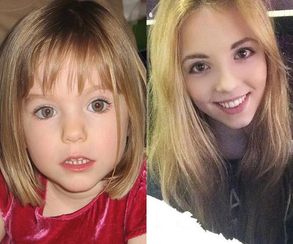Missing child Madeleine McCann and student, Harriet Brookes.