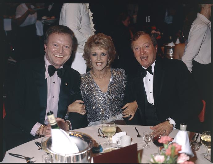 1981: Bert, Patti and Graham Kennedy at the TV WEEK Logie Awards.