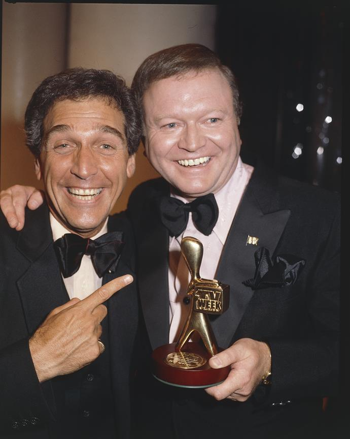 Bert (who appears here with Don Lane) won his first Gold Logie in 1979.