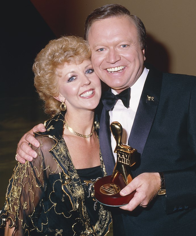 1984: Patti cuddled up to Gold Logie winner, Bert.