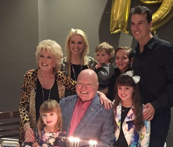 Bert and Patti are parents of Matt and Lauren. Lauren and husband Matt Welsh (above) have four children - Sam, nine, Eva, eight, Lola, five, and Monty, 21 months.