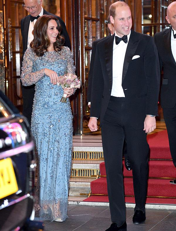 Kate was delighted to see her hubby show off his funny side!