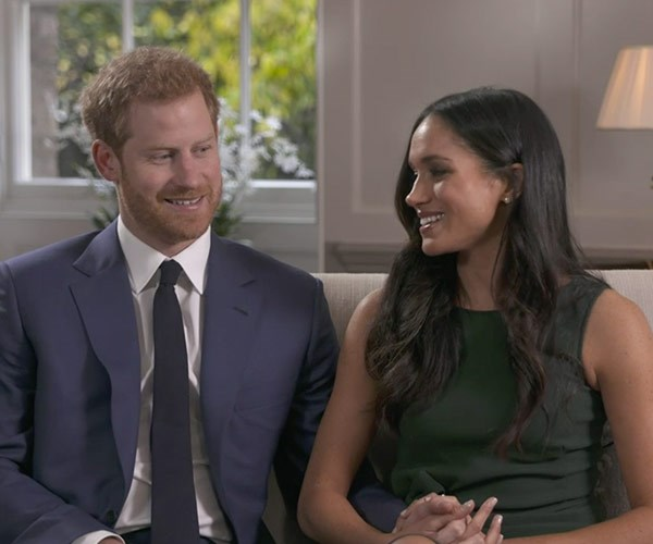 The happy couple didn't let go of each other's hands throughout the entire interview.