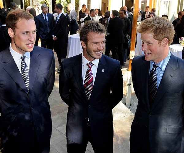 "In 2012, Becks told *Esquire* that he has a ""very normal relationship"" with Harry and William, remarkingthey're ""very easy to get along with."""