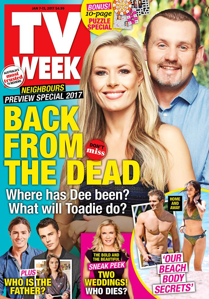 2017: *Neighbours* fans were shocked to see Dee Bliss (Madeleine West) return.
