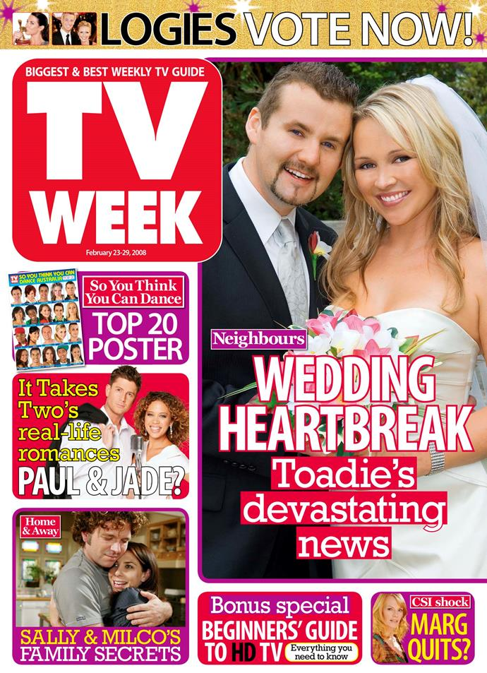2008: The era of *Neighbours* couple Toadie and Steph.