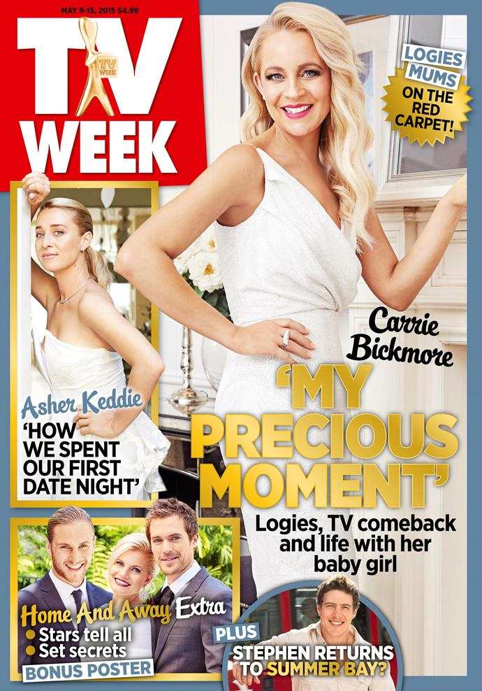 2015: Carrie Bickmore had Logies fever!