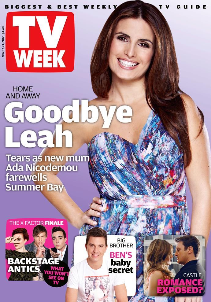 2012: So happy Leah (Ada Nicodemou) is still on *Home And Away*.
