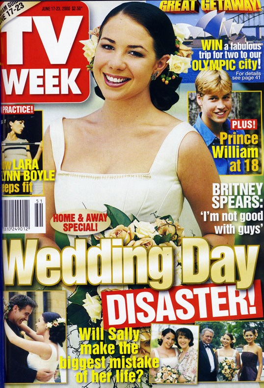 2000: Sally (Kate Ritchie) makes a beautiful bride!