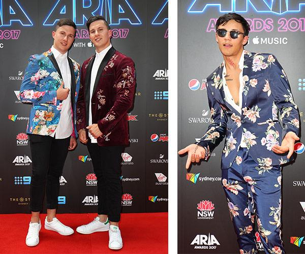 Jordan and Brandon Abou-Ghaida of Take Two and Tai all know the power of a flower suit.
