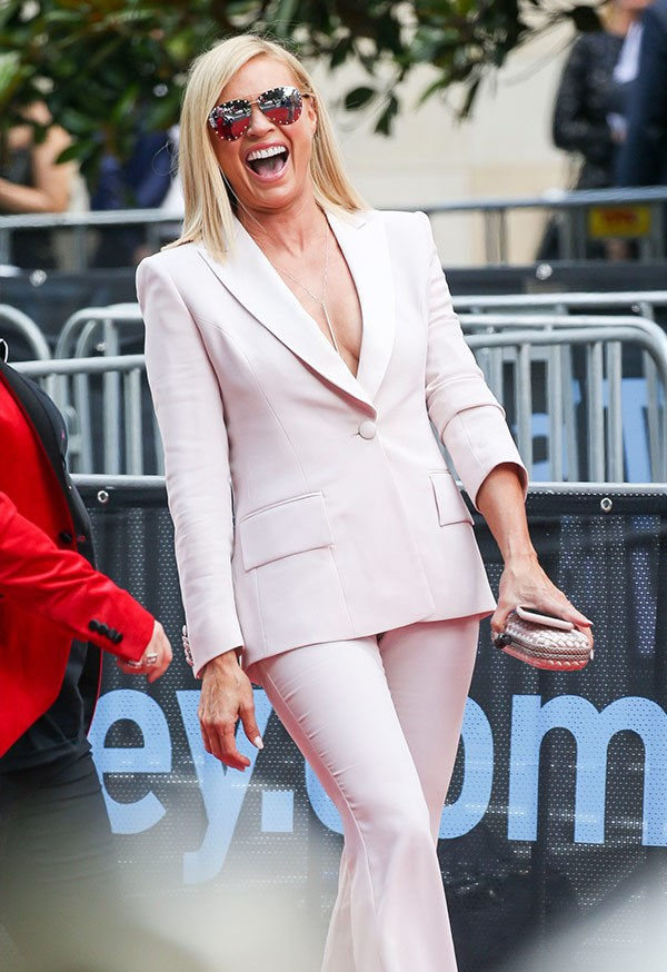 Hello Sonia Kruger! The mum-of-one told us she's very excited to kick back and enjoy the night.