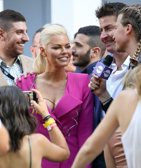 Our queen Sophie Monk has arrived with her rosy beau Stu Laundy.