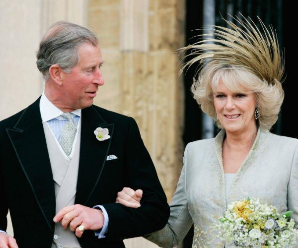 "Charles and Camilla wed at St. George's in a ""service of blessing"" in April 2005."
