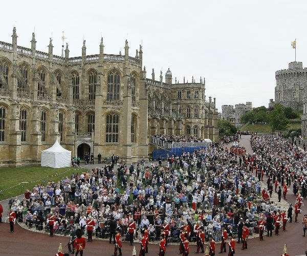 St. George's Chapel at Windsor Castle is pictured here during the annual Order of the Garter Ceremony.