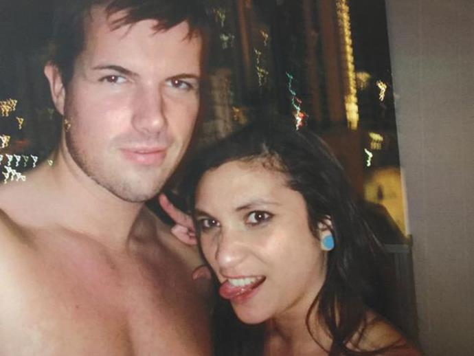 Tostee with Warriena Wright before she plunged to her death.