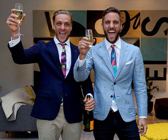 **Simon and Shannon:** Since winning *Glasshouse* in 2014, loveable brothers Simon and Shannon Vos haven't stopped. Simon now runs a construction company, while Shannon manages an interior design business (and is a dad to little boy, Dusty).