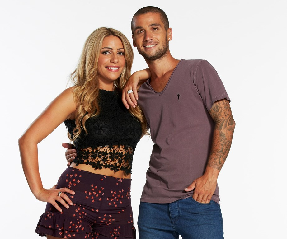 Bec and George pose for their official *The Block* photos.