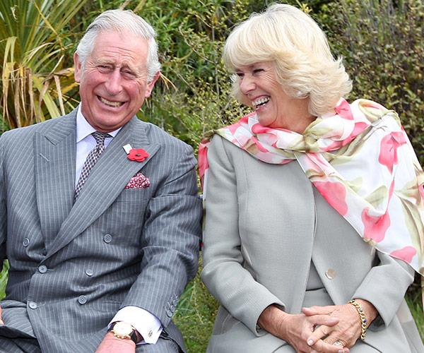 """When Camilla and Charles laugh, one is always facing a different direction."""