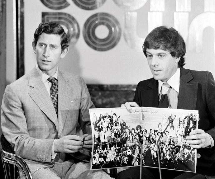 "**1974:**  Tuning in to *Countdown* every Sunday became a part of Australian life for 13 years. Ian ""Molly"" Meldrum bumbled through at the best of times, but when Prince Charles made a guest appearance in 1977, Molly was truly lost for words."