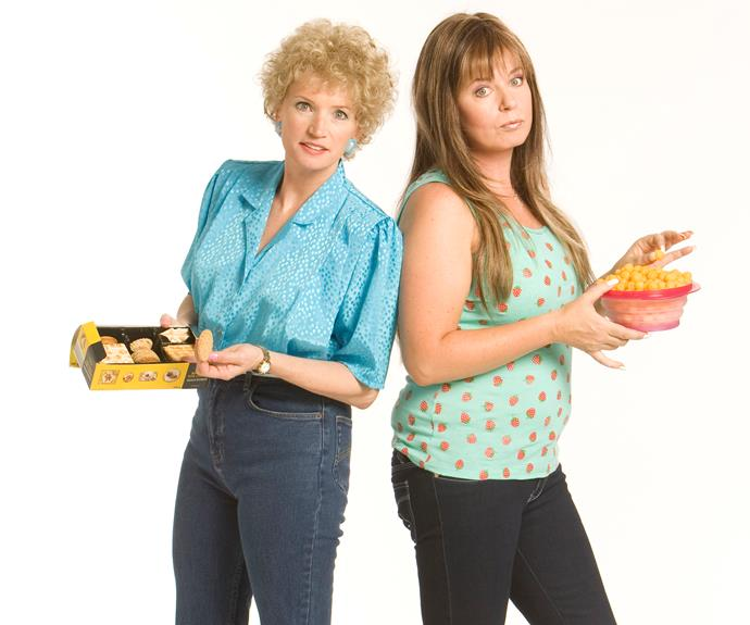"**#41 Jane and Gina (Kath & Kim) ** It was 2002 when Jane Turner and Gina Riley arrived as ""foxy ladies"" Kath and Kim. The show, which also saw the pair play snobby shop owners Trude and Prue, produced some of Aussie TV's most quotable lines. And it turned Jane and Gina into comedy icons. Fifteen years on and fans still can't get enough of the ""cardonnay""-loving ladies."