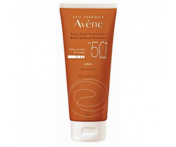 "Avene Sunscreen Lotion Face & Body SPF 50+, $28.99, [Priceline Pharmacy](https://www.priceline.com.au/skincare/sun-and-tanning/sun-protection/avene-sunscreen-lotion-face-body-spf-50-100-ml|target=""_blank""