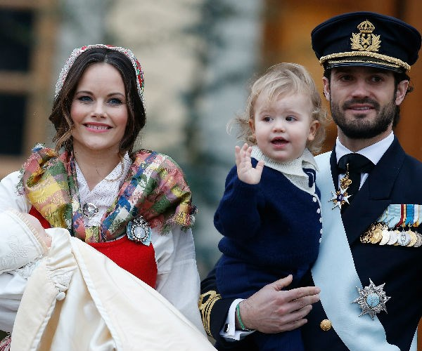 The little prince was baptised in the Royal Chapel at the Drottningholm Palace Church.