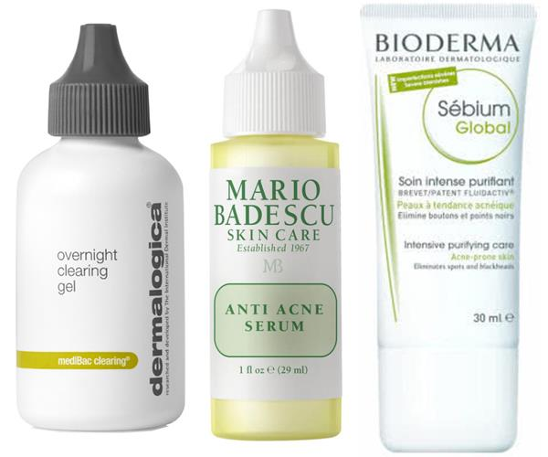 "These products are packed with acne-clearing salicylic acid: [Dermalogical Medibac Overnight Clearing Gel](https://www.adorebeauty.com.au/dermalogica/dermalogica-medibac-overnight-clearing-gel.html|target=""_blank""