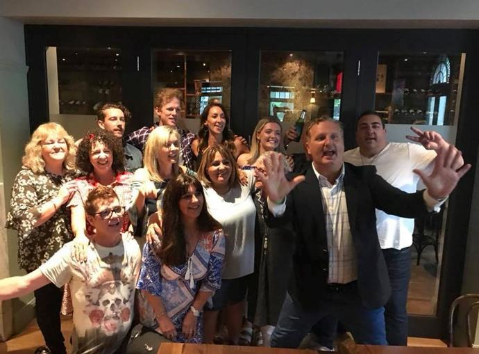 """Wayne and Tom's Instagram caption read: """"*Gogglebox Australia* family meet-up, love them all. Was so much fun but still hungover."""""""