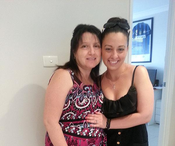 Me and Mum.