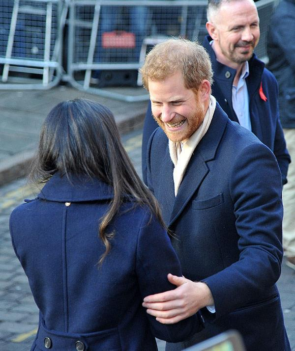 """""""I was beautifully surprised when I walked into that room and saw her,"""" Prince Harry said of their first blind date."""