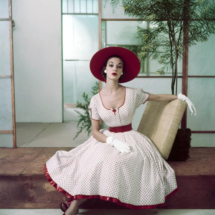 **1952 – Jean Patchett** One of the first high fashion models, Jean Patchett was on the cover of numerous magazines throughout the forties and the fifties.