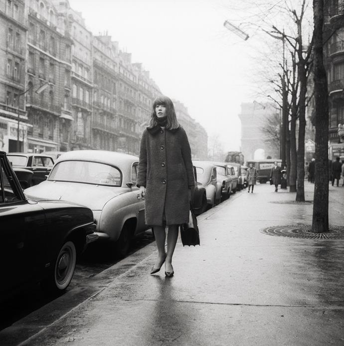 **1962 – Francoise Hardy** The eternally chic French pop star was a street style star long before social media.