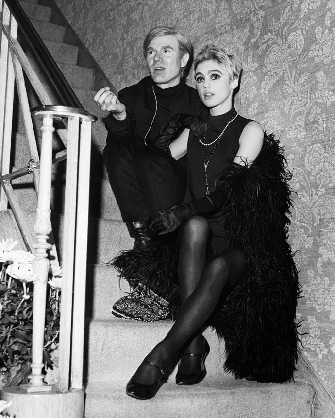 **1965 – Edie Sedgwick** Andy Warhol's long-term muse and one of America's first 'it' girls, Edie's leggings, mini dresses and dark kohl liner defined sixties style.