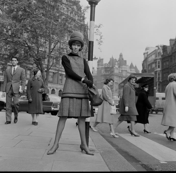 **1966 – Mary Quant** One of the designers who took credit for inventing the mini skirt, Quant was also a style icon in her own right.