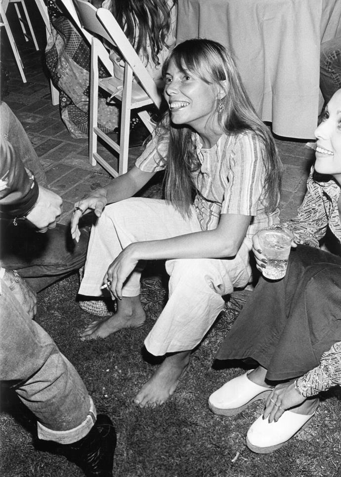 **1970 – Joni Mitchell** 1970 was the year that Joni Mitchell released one of her biggest hits, Big Yellow Taxi. Not just loved for her unique sound, her bohemian style cemented her as a seventies style icon.