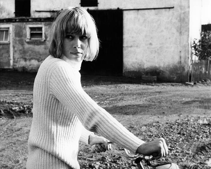 **1971 – Anita Pallenberg** The Italian actress and muse of the Rolling Stones never put a sartorial foot wrong. We would love to raid her wardrobe full of sparkling mini dresses, shearling coats and bell bottom jeans.