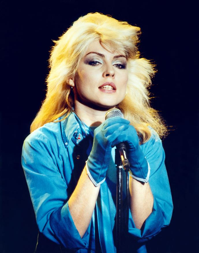 **1977 – Debbie Harry** With her bleach blonde hair, dark kohl liner and collection of band tees, Blondie was the original rock chick.