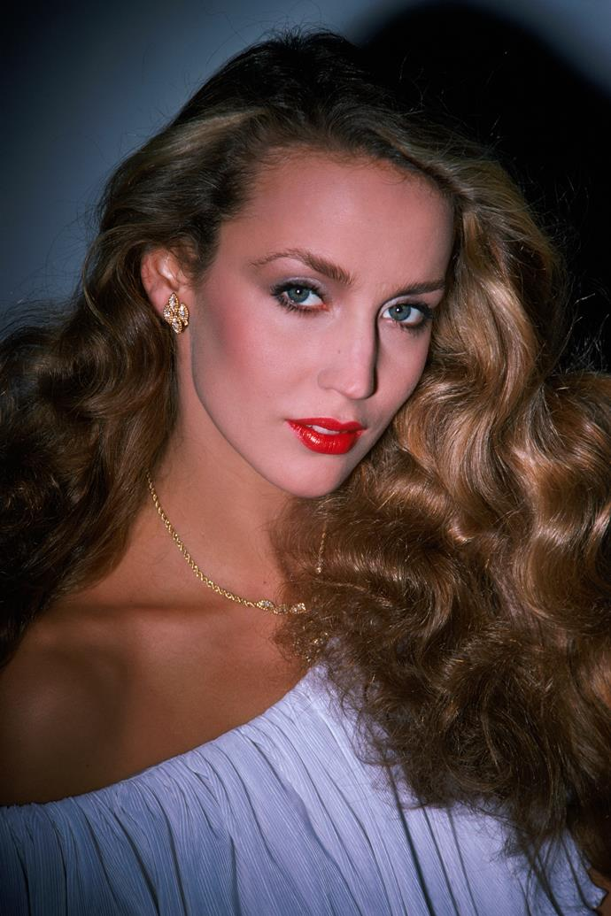 **1979 – Jerry Hall** Throughout the seventies Jerry Hall's polished and glamorous style meant she always looked every inch the supermodel.
