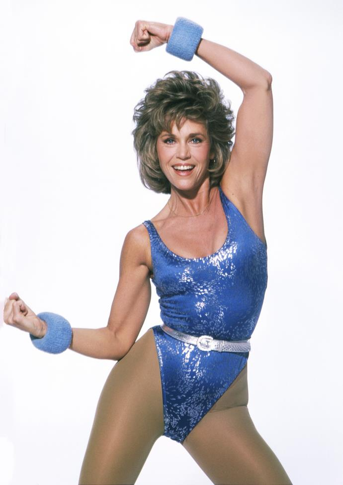 **1983 – Jane Fonda** An actress, activist and fashion icon, in the eighties Jane Fonda was also famed for kick starting the craze for at-home exercise videos.