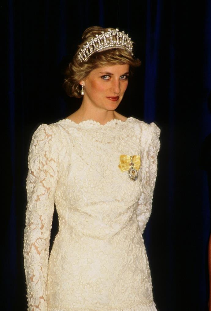 **1986 – Princess Diana** Whether she was wearing a full-length gown for a State dinner or in sportswear on the school run, Princess Diana's style choices never failed.