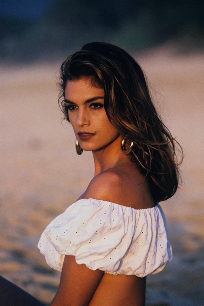 **1988 – Cindy Crawford** Part of the original troupe of supermodels, in the eighties and early nineties you could not pass a news stand without seeing Cindy Crawford on a cover.